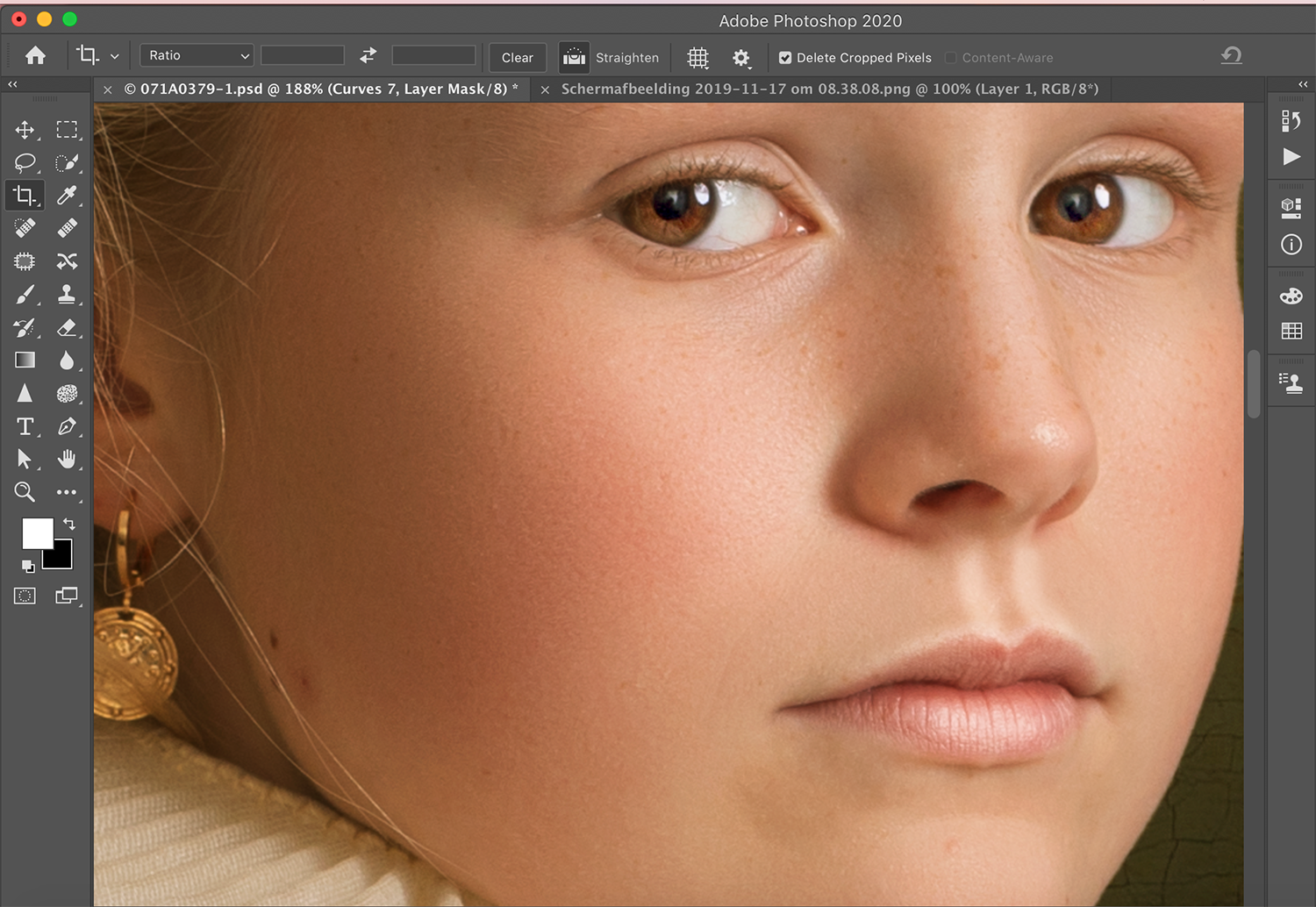 After retouching